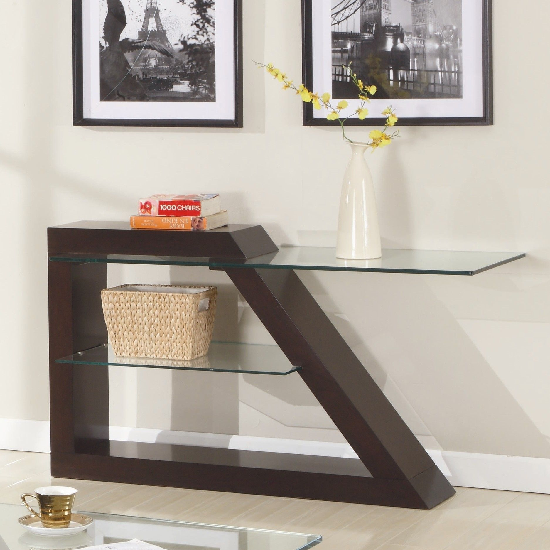 Jensen Console Table | For The Home | Pinterest | Sofa, Sofa Tables for Parsons White Marble Top & Brass Base 48X16 Console Tables (Image 10 of 30)