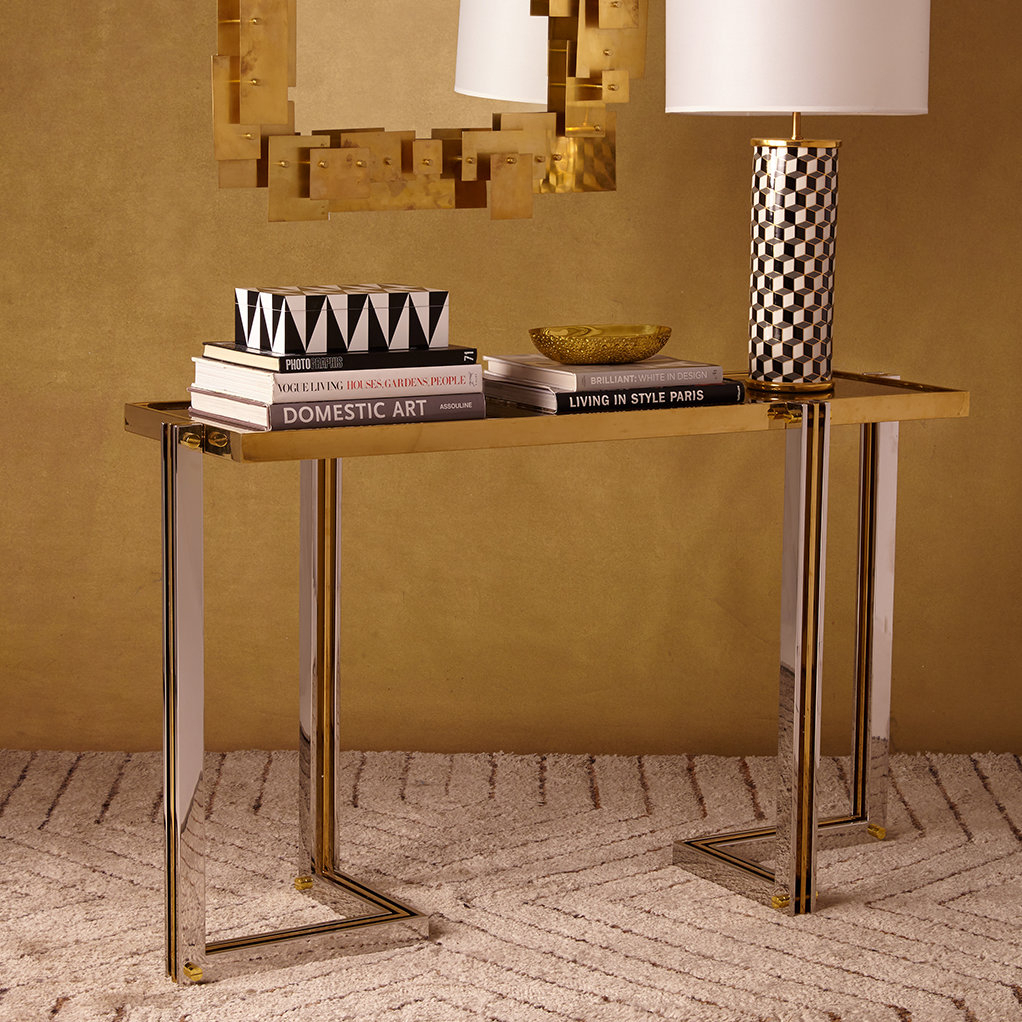 Jonathan Adler Electrum Console Table | Wayfair for Ventana Display Console Tables (Image 17 of 30)
