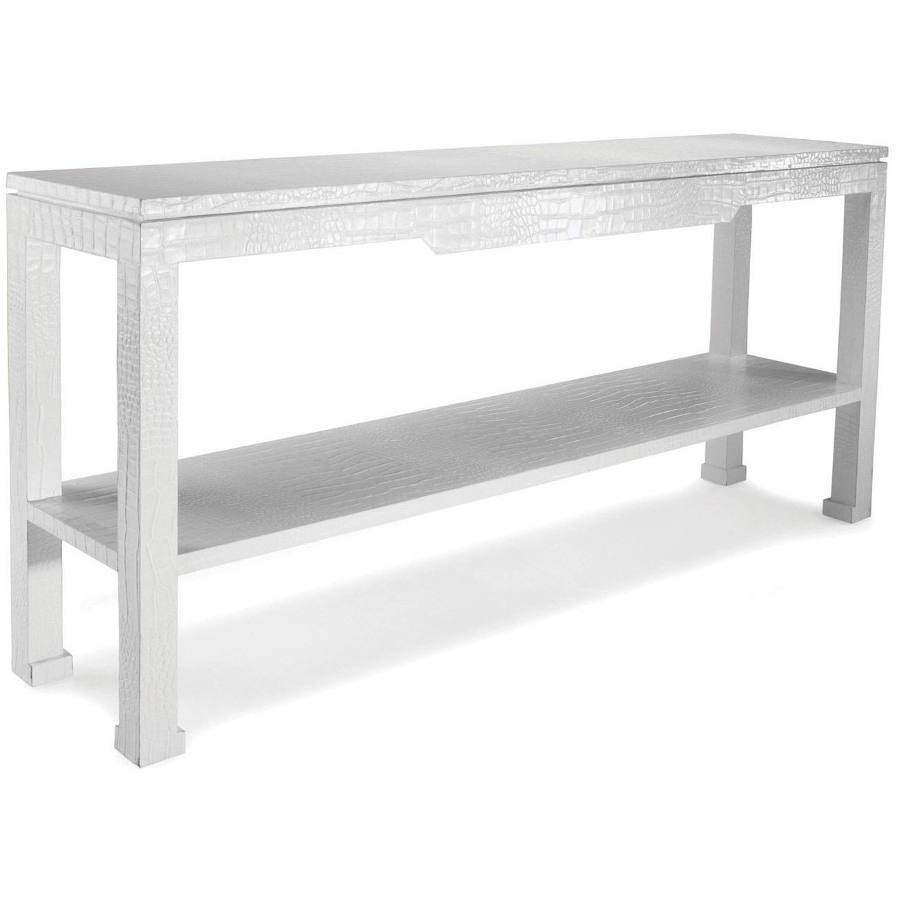 Jonathan Adler Preston White Console Table @zinc Door, Called Mock With Regard To Silviano 84 Inch Console Tables (View 24 of 30)