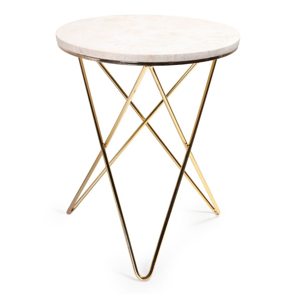 Jules Small Accent Table For Elke Glass Console Tables With Polished Aluminum Base (View 16 of 30)