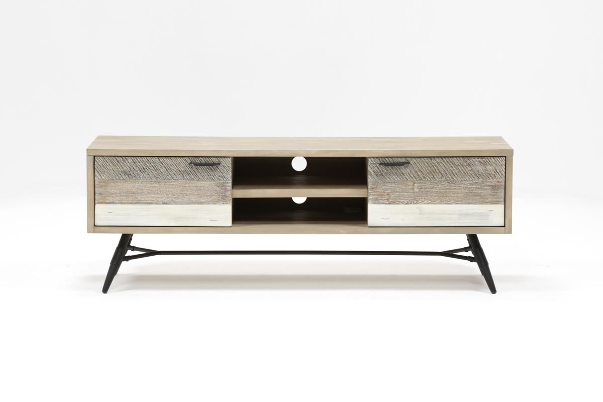 Kai 63 Inch Tv Stand | Living Spaces for Jacen 78 Inch Tv Stands (Image 21 of 30)