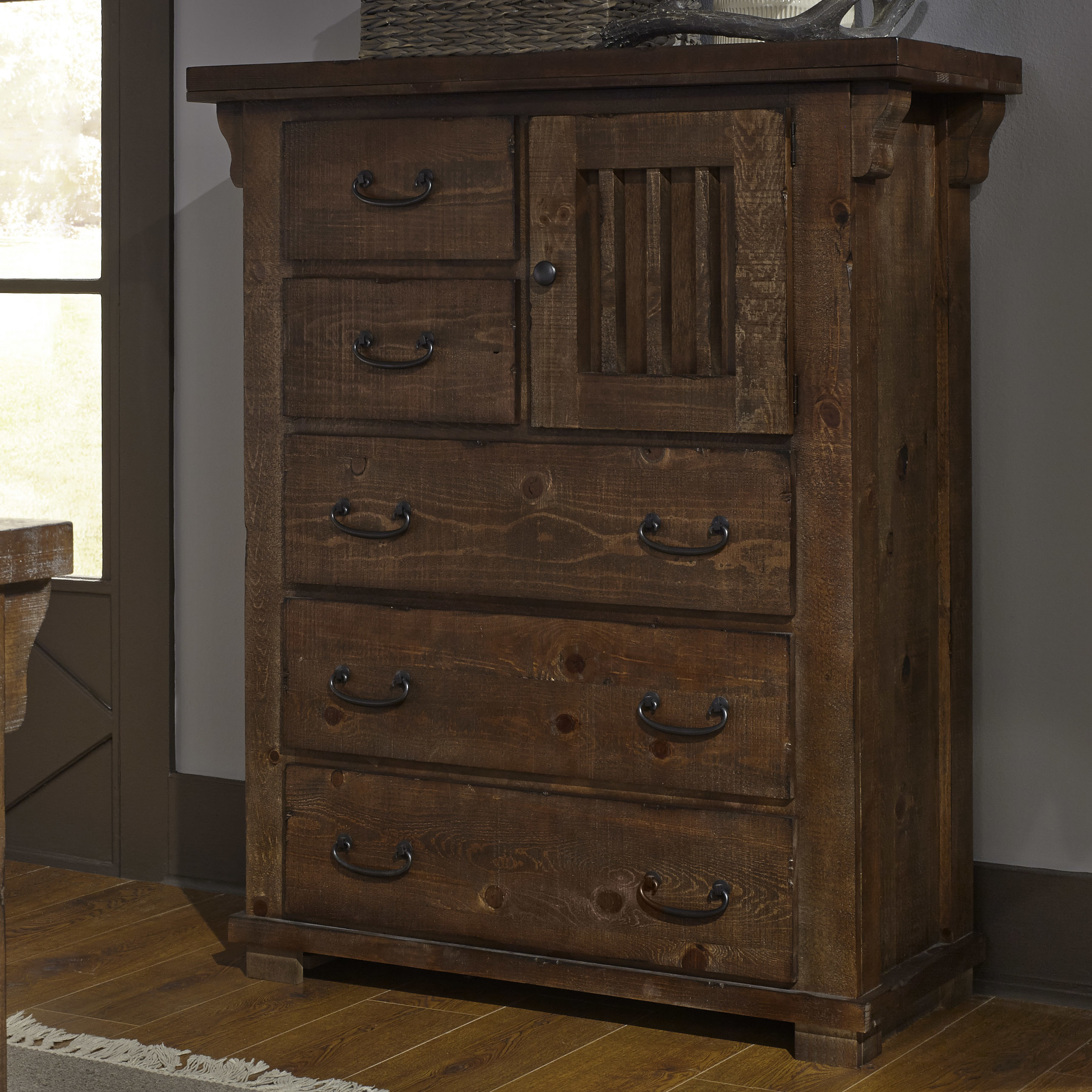 Knotty Pine Dresser | Wayfair Intended For Bale Rustic Grey 82 Inch Tv Stands (Photo 28 of 30)
