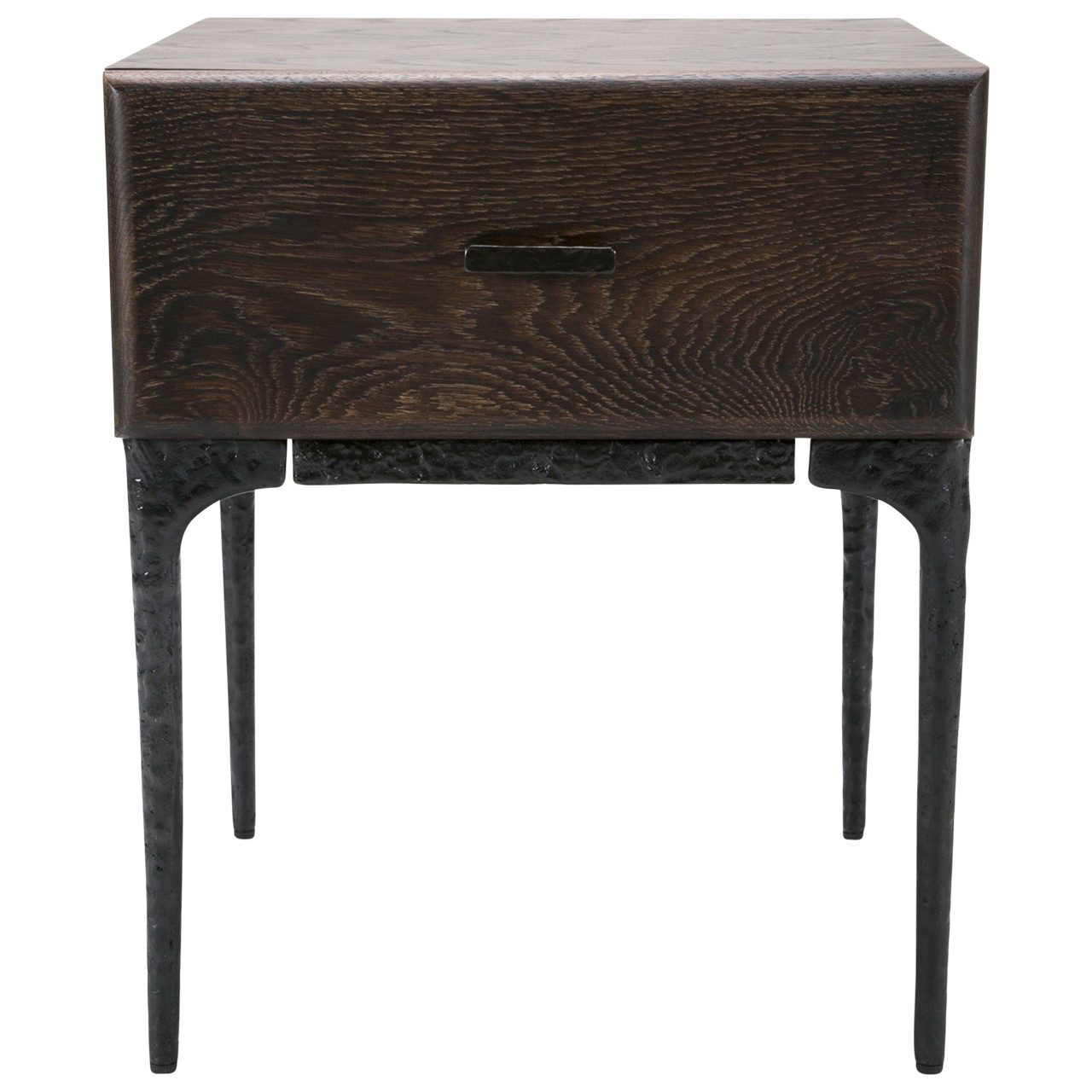 Kulu Night Stand Within Oak & Brass Stacking Media Console Tables (Photo 14 of 30)