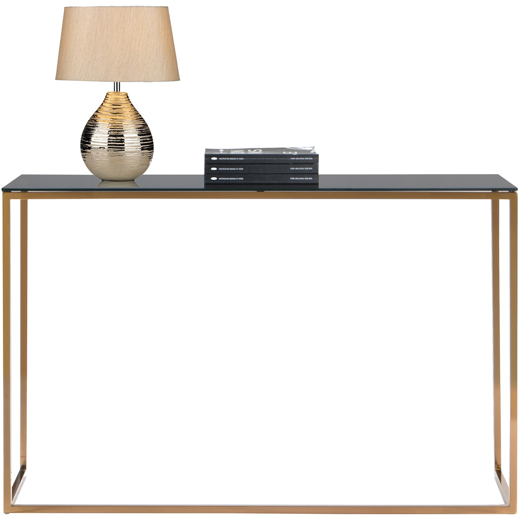 Kyra (126Cm Gold) Console Table With Tempered Glass Top Regarding Kyra Console Tables (Photo 10 of 30)