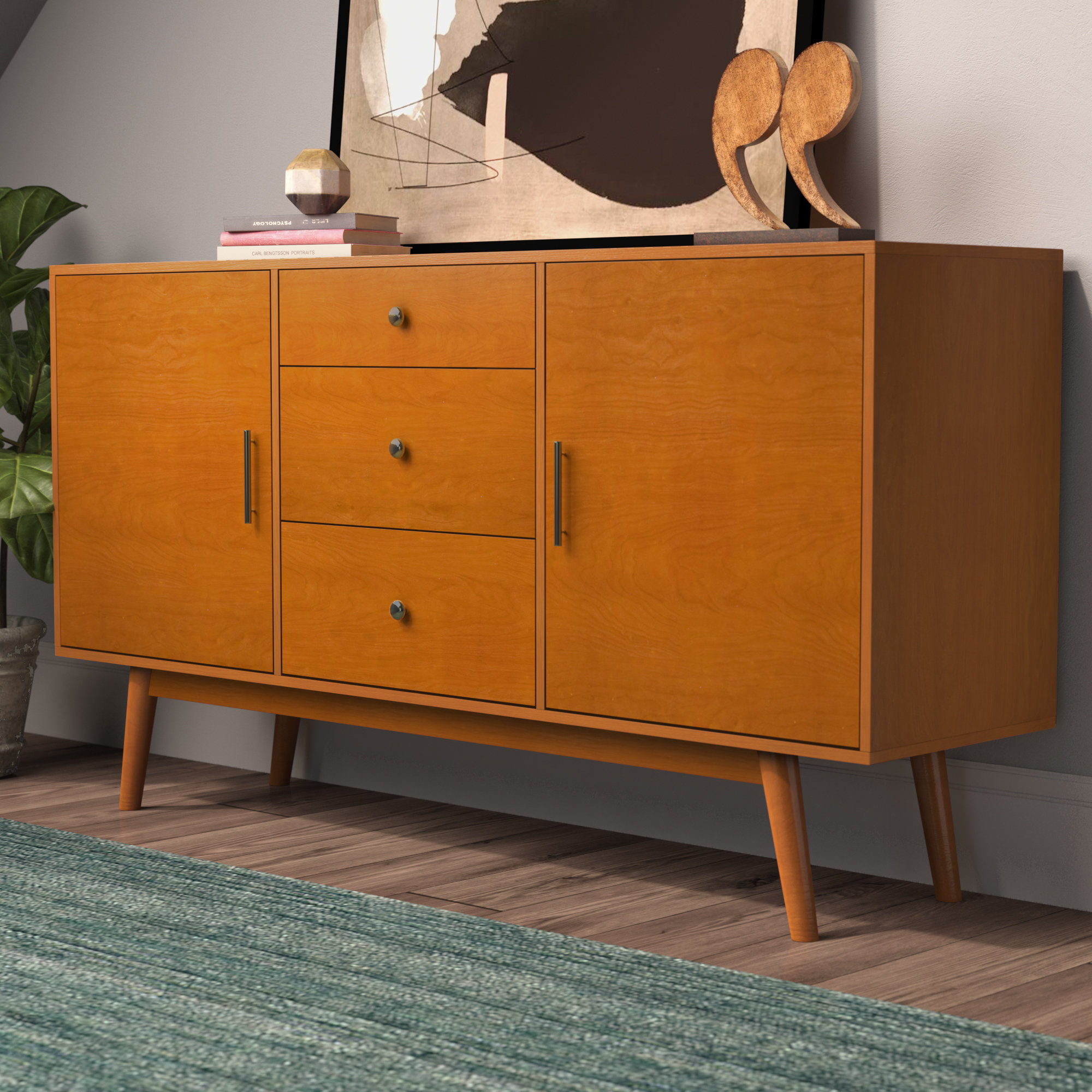 """Langley Street Magdalena Tv Stand For Tvs Up To 60"""" & Reviews 