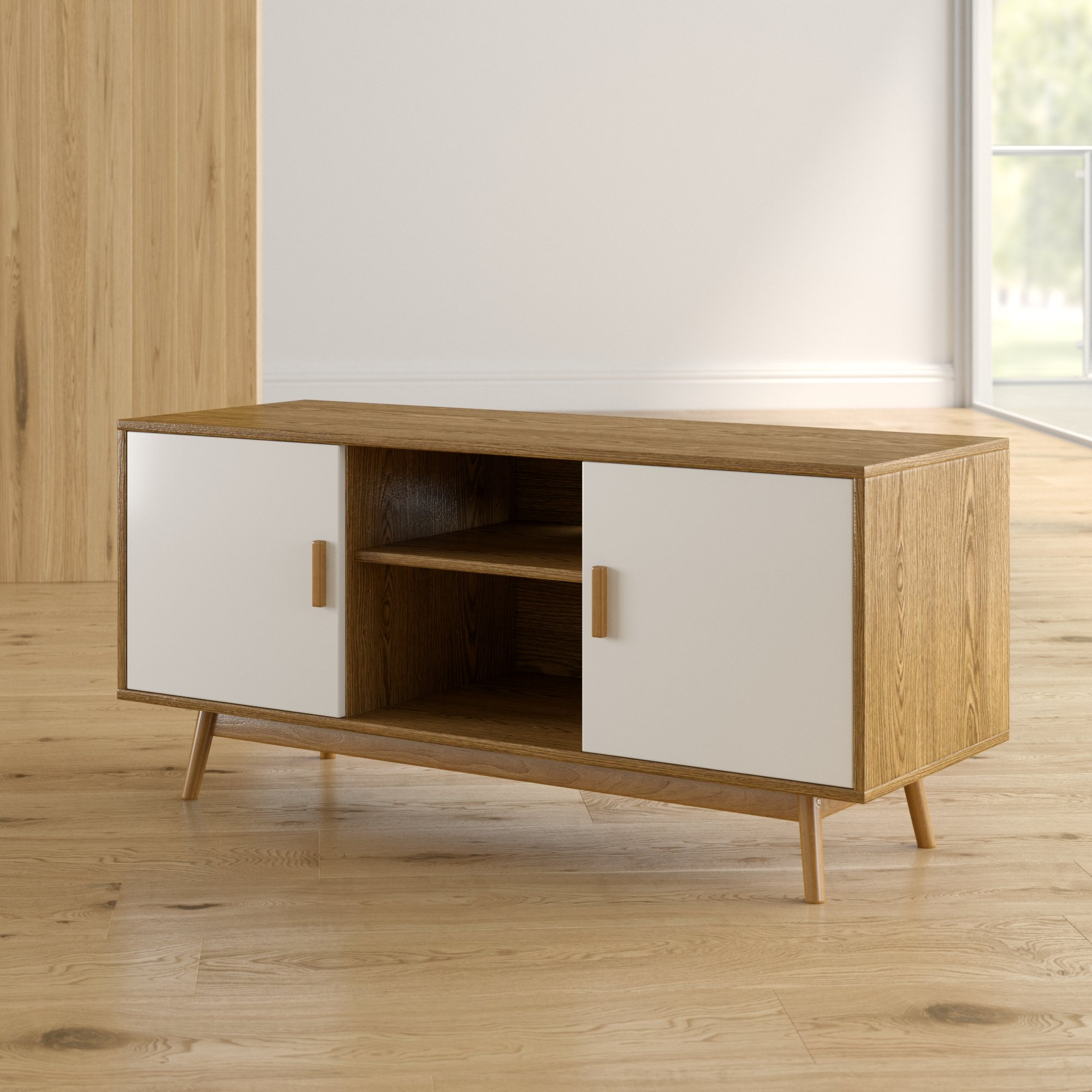 """Langley Street Phoebe Tv Stand For Tvs Up To 43"""" & Reviews 