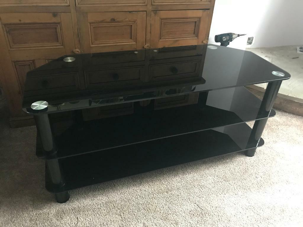 Large Glass Tv Stand | In Stoke On Trent, Staffordshire | Gumtree Pertaining To Walton 60 Inch Tv Stands (View 21 of 30)