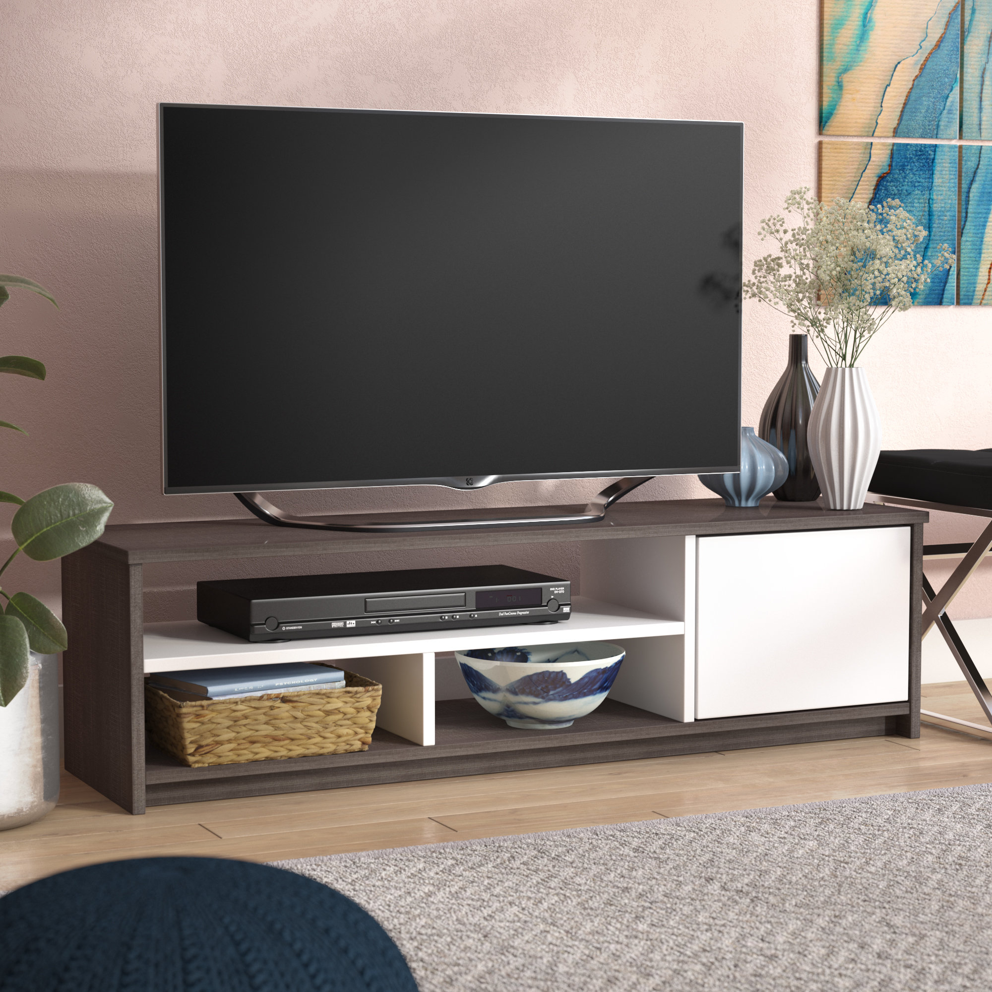"Latitude Run Frederick Tv Stand For Tvs Up To 50"" & Reviews 
