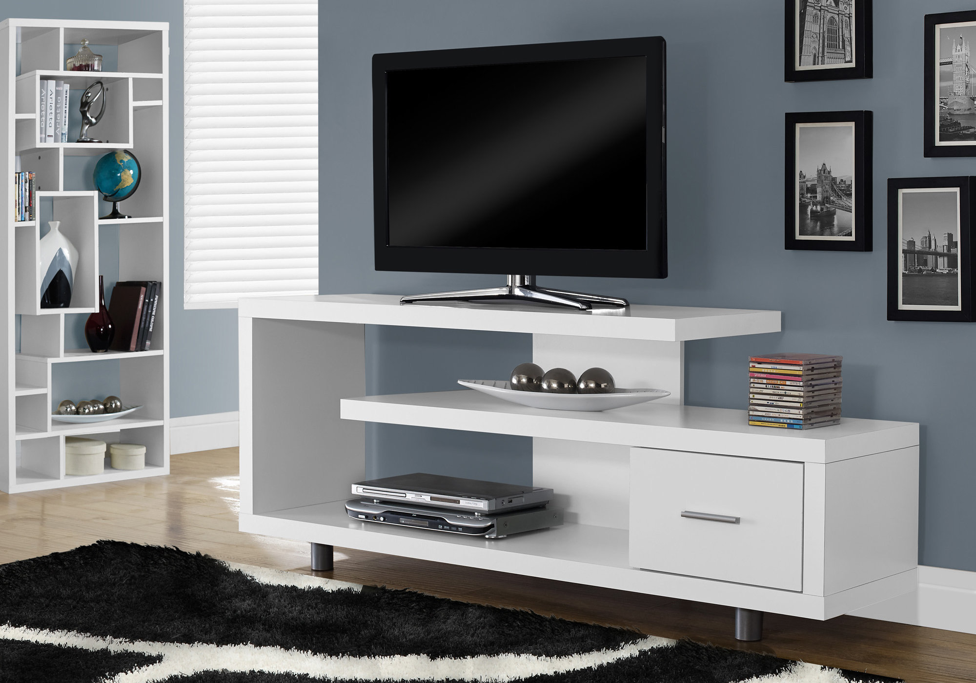 Latitude Run Rundall Tv Stand & Reviews | Wayfair Within Edwin Black 64 Inch Tv Stands (View 8 of 30)