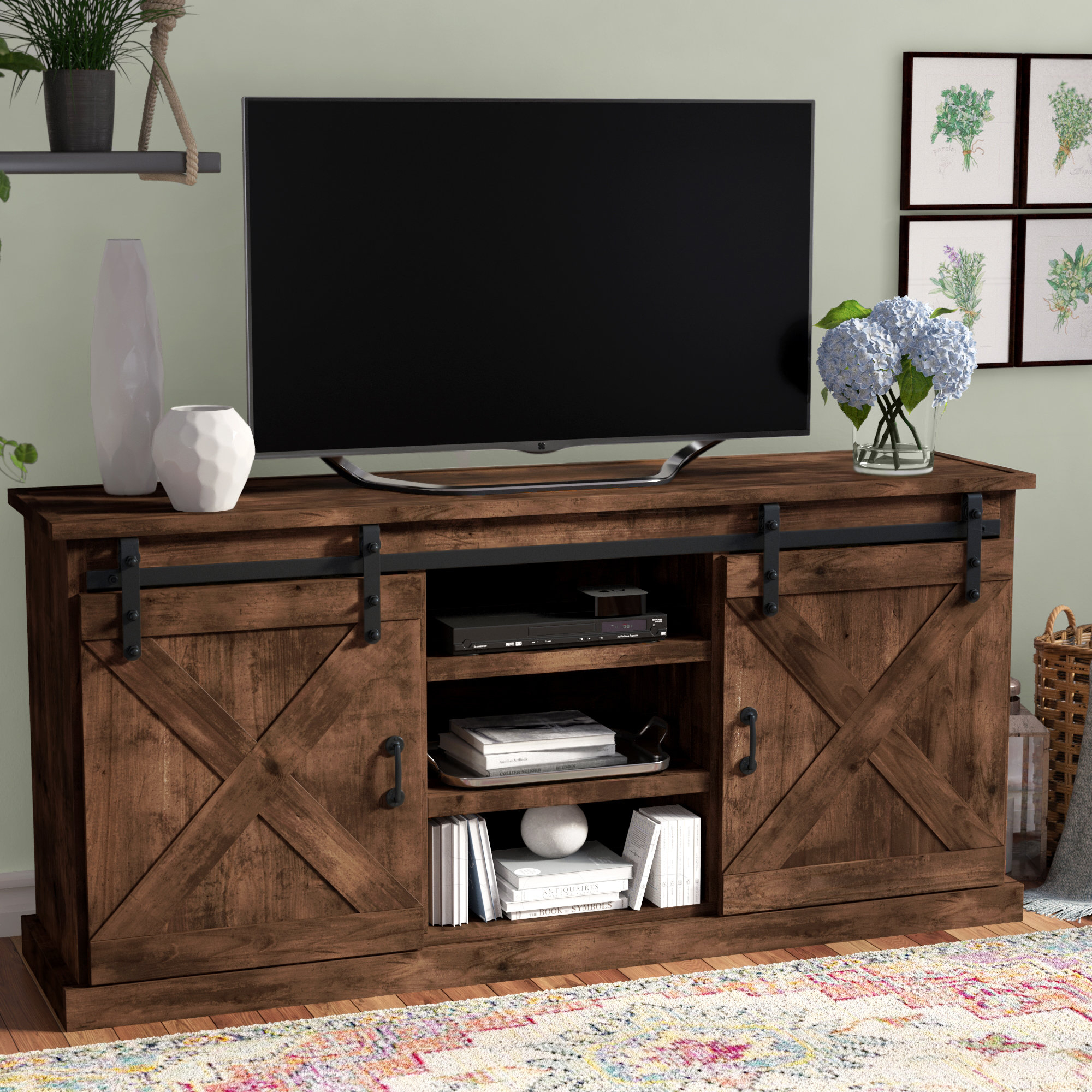 Laurel Foundry Modern Farmhouse Clair Tv Stand For Tvs Up To 66 inside Casey Grey 66 Inch Tv Stands (Image 12 of 30)