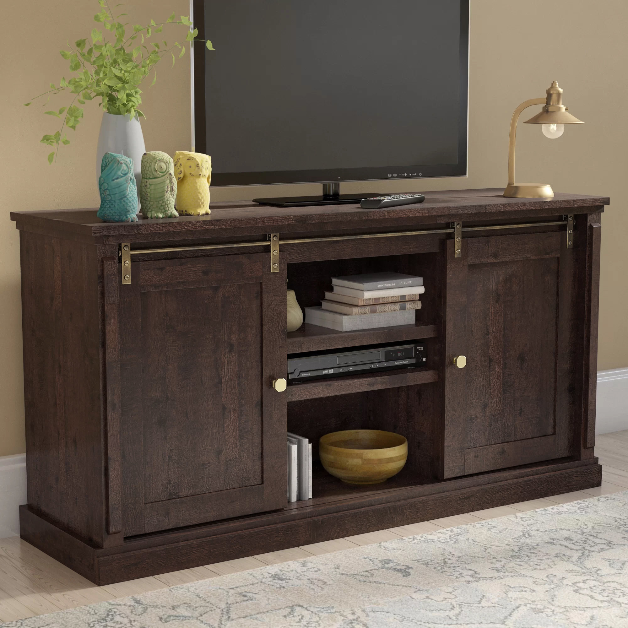 Laurel Foundry Modern Farmhouse Sebastien Tv Stand For Tvs Up To 70 pertaining to Walton 74 Inch Open Tv Stands (Image 17 of 30)