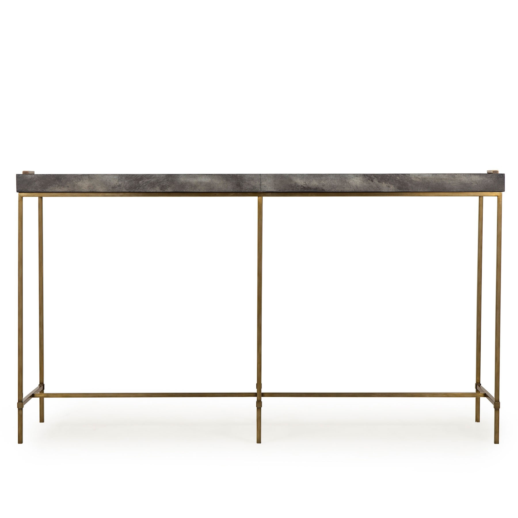Levi Tray Console Table – Grey For Grey Shagreen Media Console Tables (View 13 of 30)