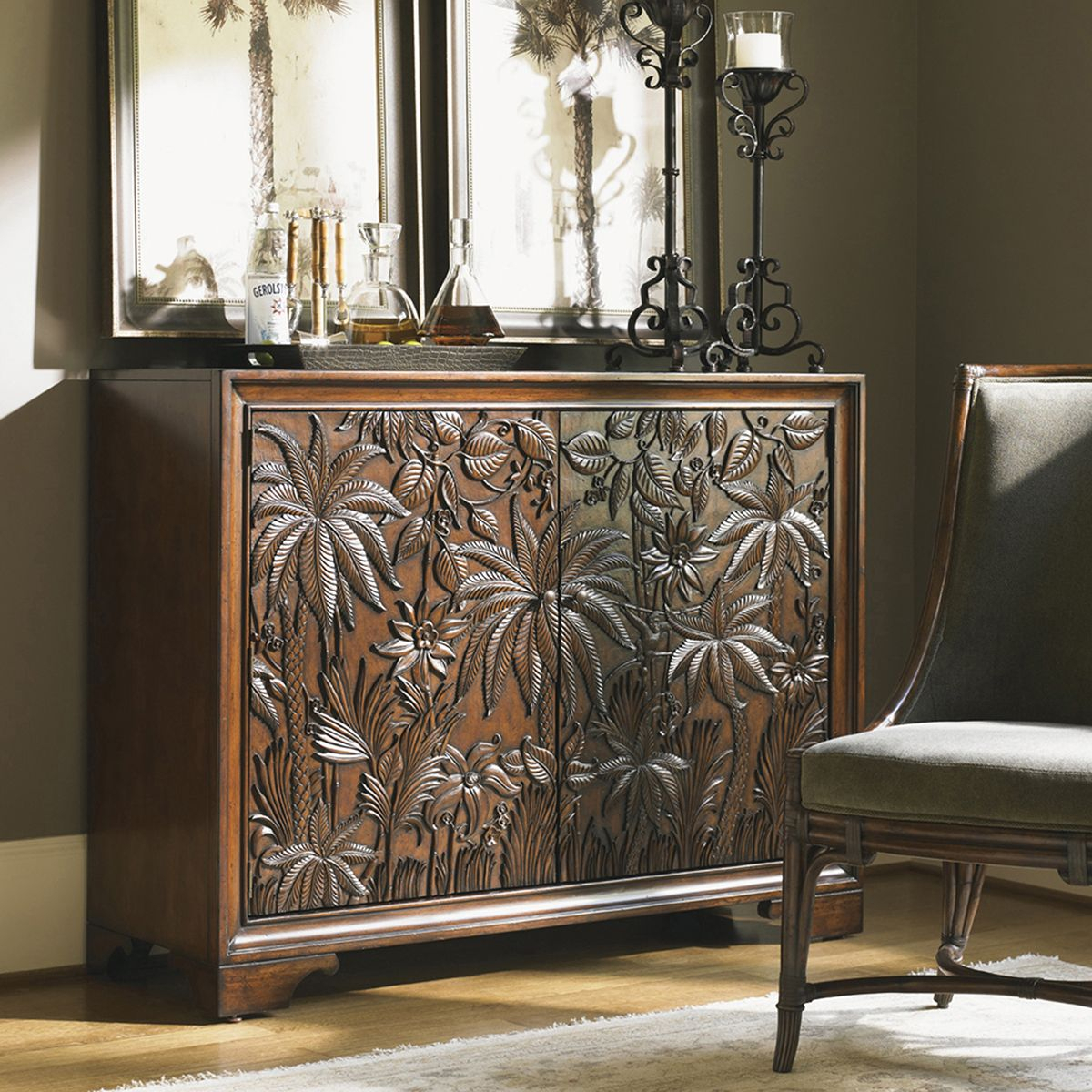 Lexington Landara Balboa Carved Door Chest 545 973   Tommy Bamaha With Regard To Balboa Carved Console Tables (View 5 of 30)