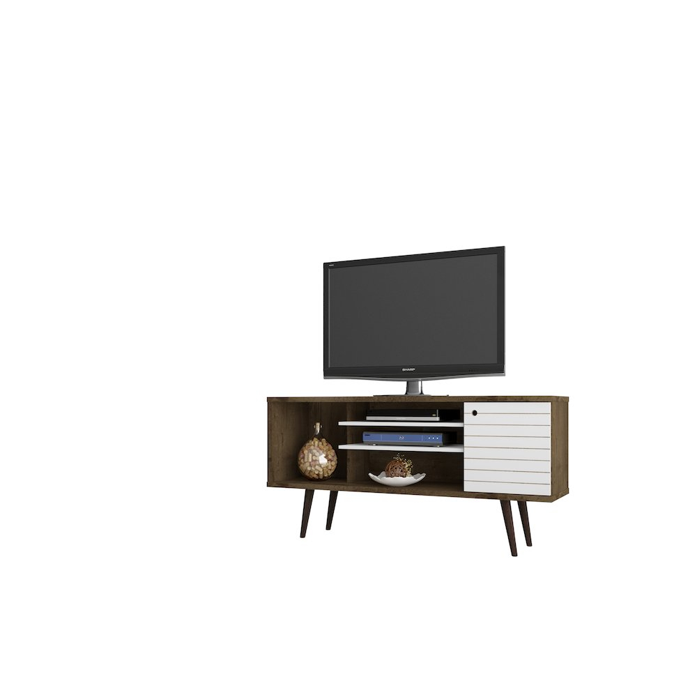 """Liberty 53.14"""" Mid Century - Modern Tv Stand With 5 Shelves And 1 with regard to Rowan 45 Inch Tv Stands (Image 14 of 30)"""