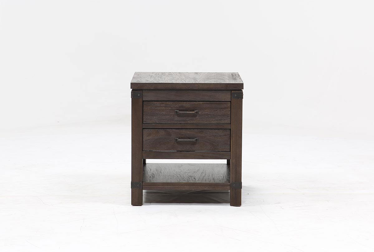 Livingston End Table | Living Spaces inside Melrose Titanium 65 Inch Lowboy Tv Stands (Image 22 of 30)