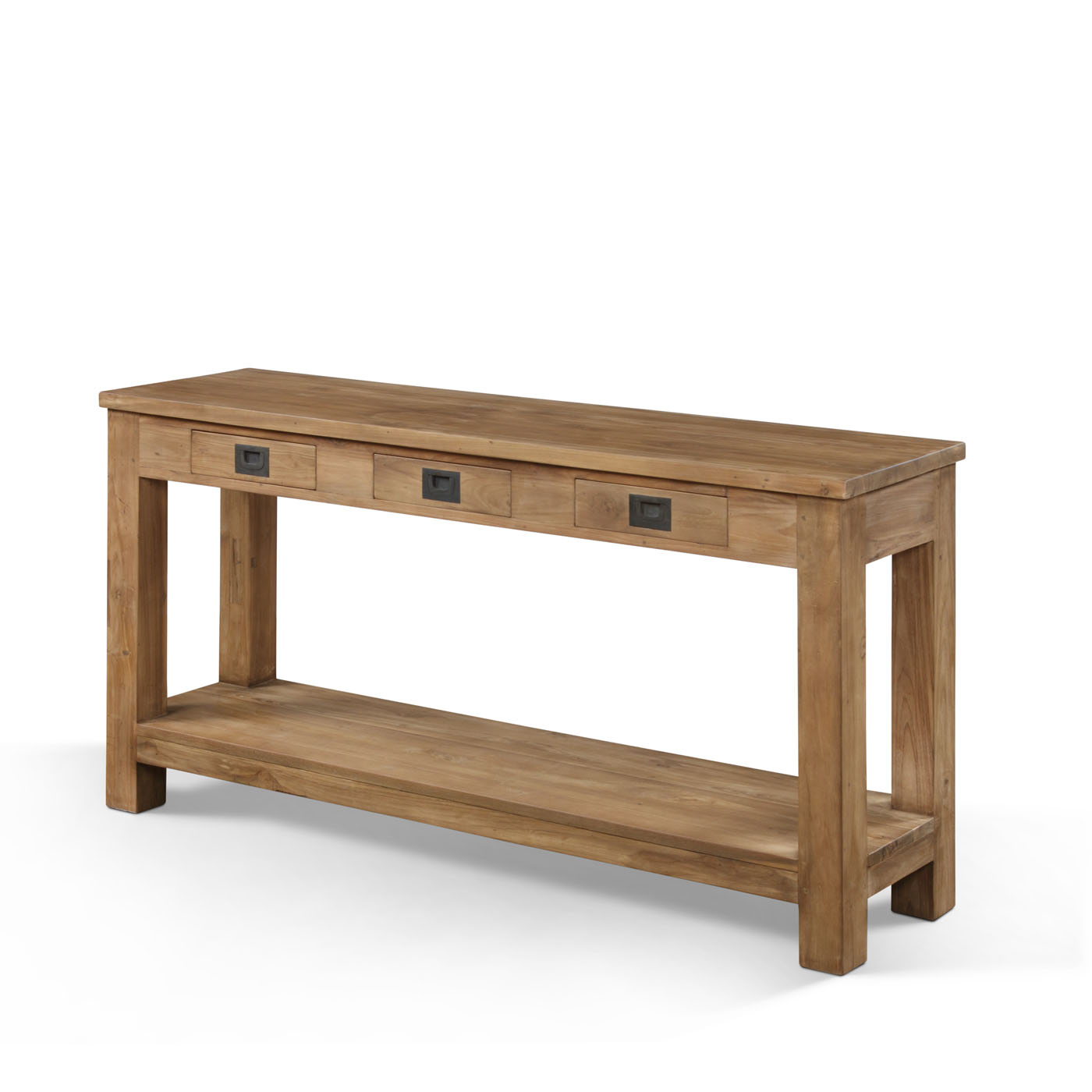 Long And Narrow Oak Console Table With Storage And Drawer With Metal With Echelon Console Tables (View 12 of 30)