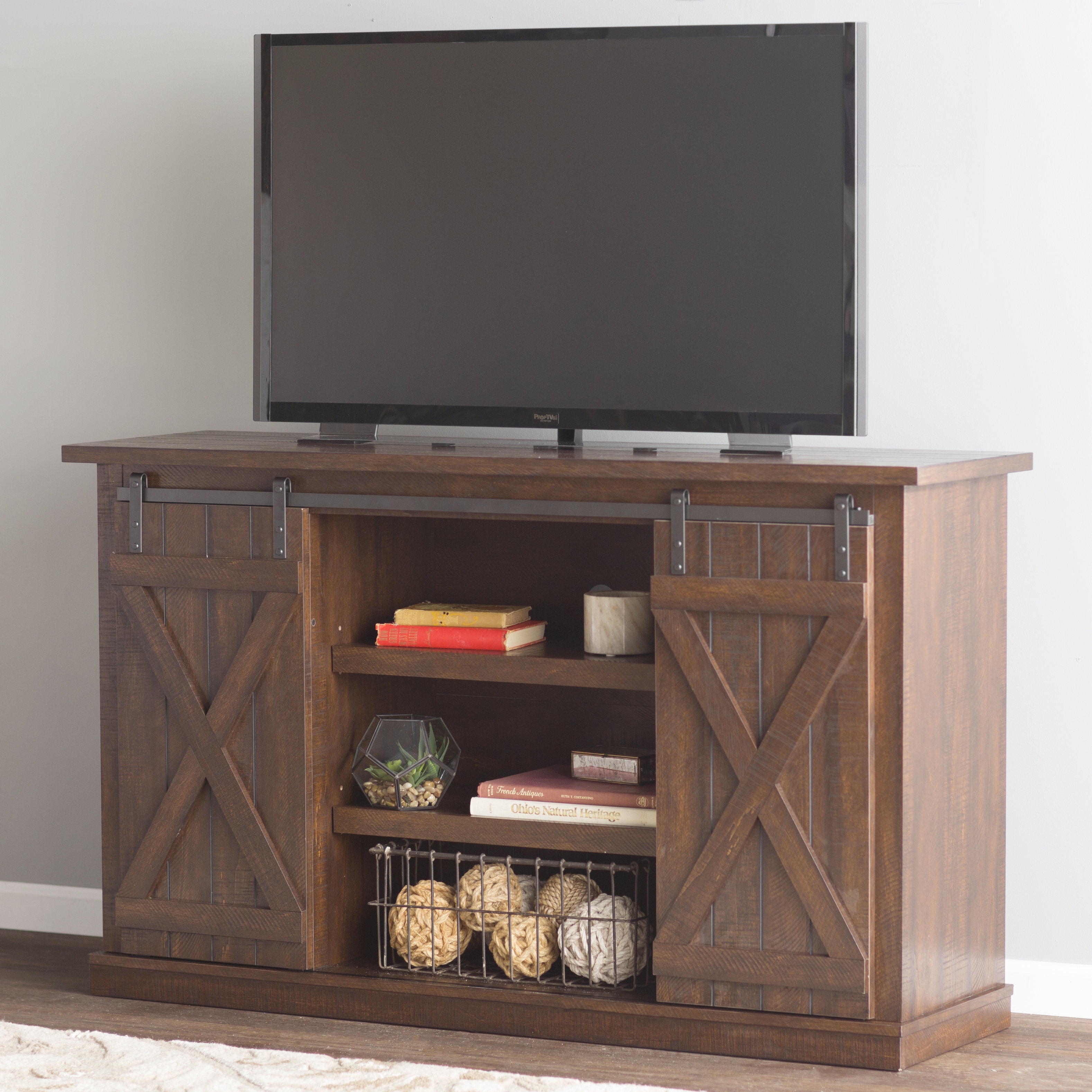 Featured Photo of Marvin Rustic Natural 60 Inch Tv Stands