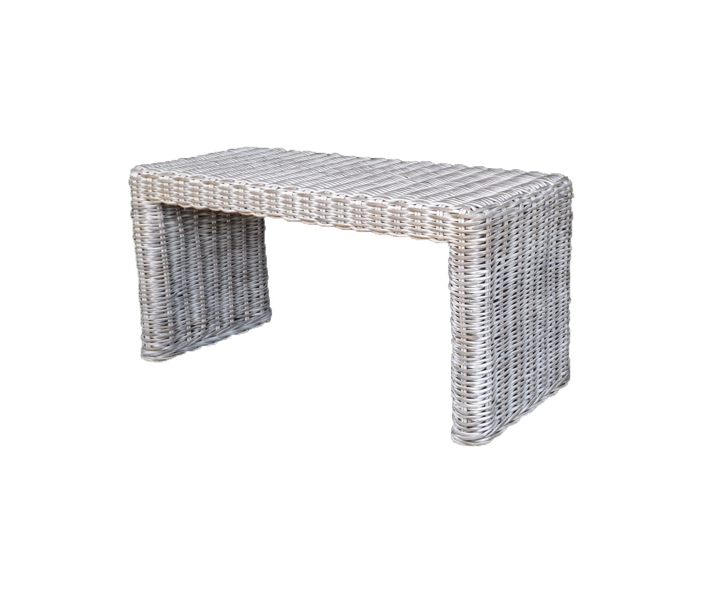 Low Console From Natural Rattan White Wash - Candlelight with Natural Cane Media Console Tables (Image 14 of 30)