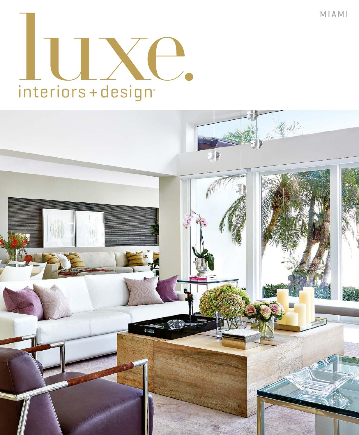 Luxe Magazine March 2016 Miamisandow® – Issuu Intended For Kilian Black 49 Inch Tv Stands (View 14 of 30)
