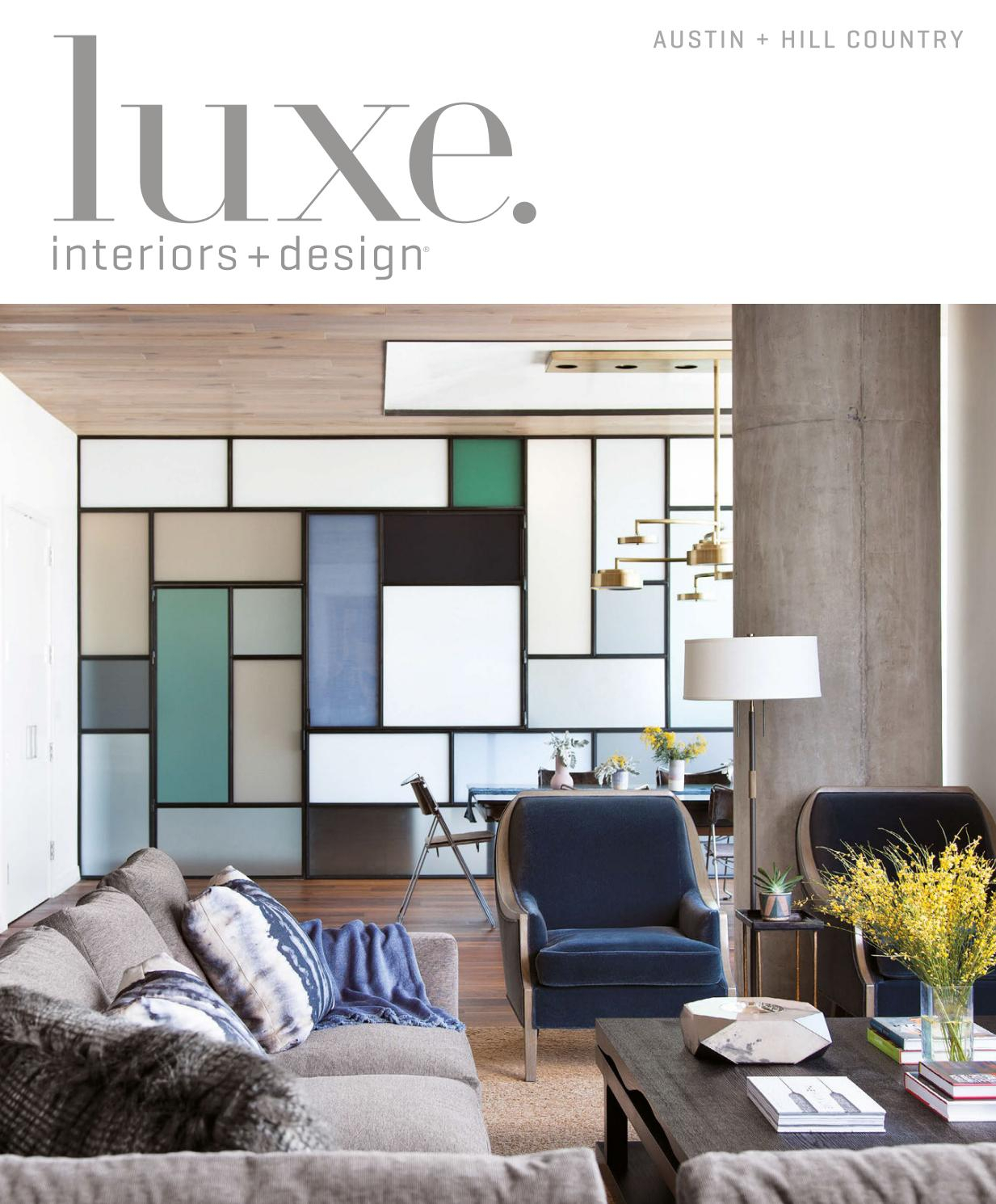 Luxe Magazine May 2017 Austinsandow® – Issuu Within Kilian Black 74 Inch Tv Stands (View 4 of 27)