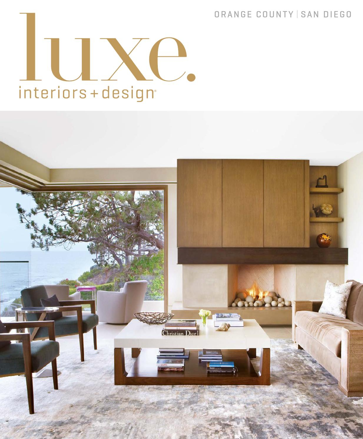 Luxe Magazine September 2015 Orange County/san Diegosandow® - Issuu inside Casey Umber 74 Inch Tv Stands (Image 12 of 30)