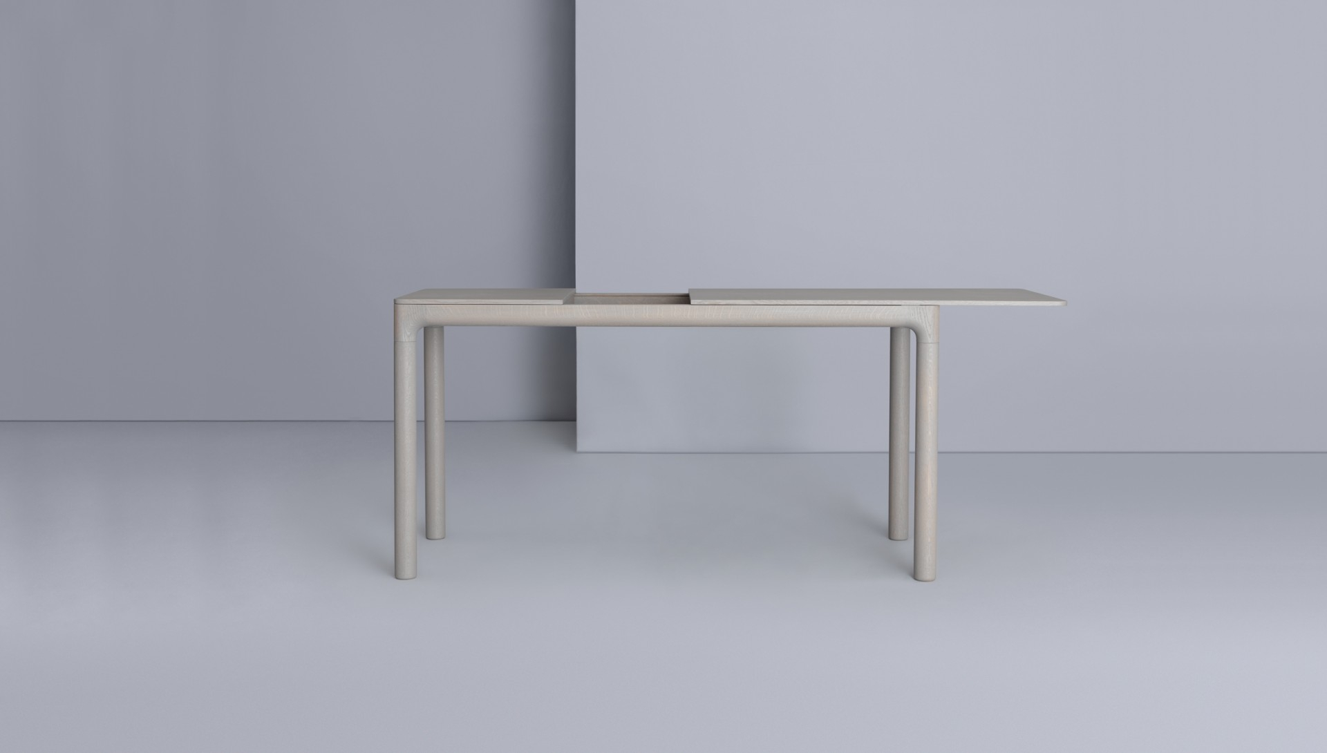 M11 Desk – Zeitraum Throughout Mix Leather Imprint Metal Frame Console Tables (View 16 of 30)
