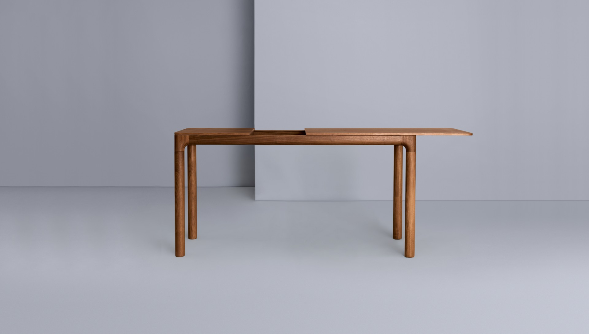 M11 Desk – Zeitraum Within Mix Leather Imprint Metal Frame Console Tables (View 3 of 30)