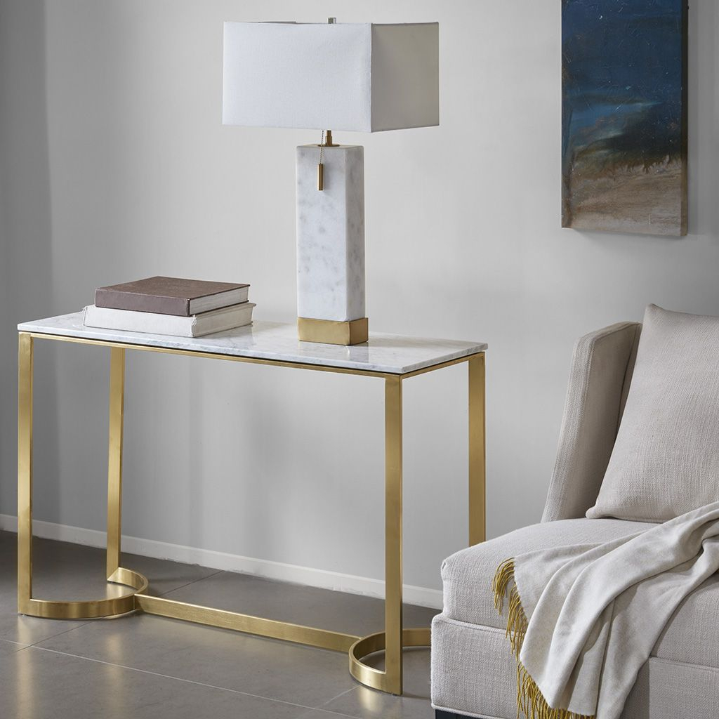 Madison Park Rockport Console Table | Pinterest | Modern Console With Regard To Elke Marble Console Tables With Brass Base (View 17 of 30)