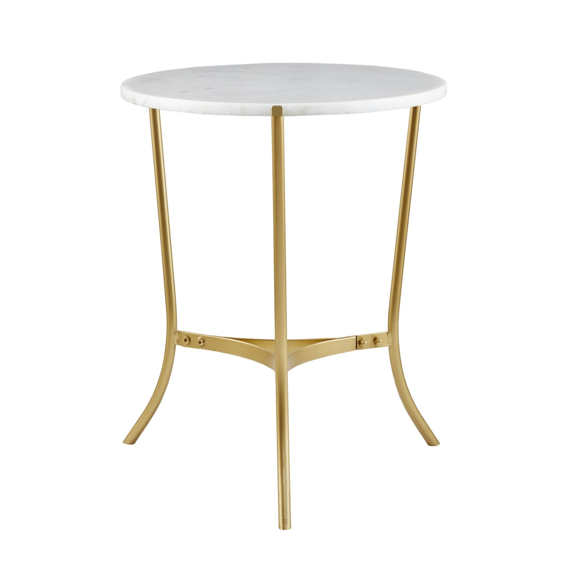 Madison Park Signature Marie Gold Marble 22 Inch Console Table Within Elke Marble Console Tables With Brass Base (View 15 of 30)