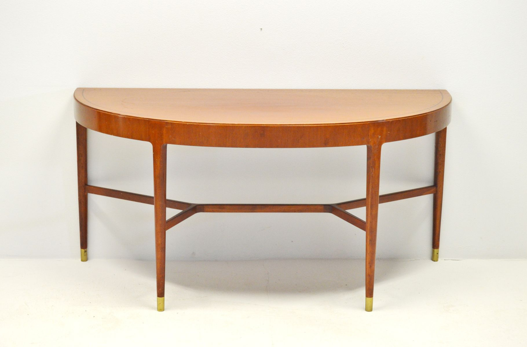 Mahogany Console Table With Brass Fittings, 1950S For Sale At Pamono For Intarsia Console Tables (View 18 of 30)