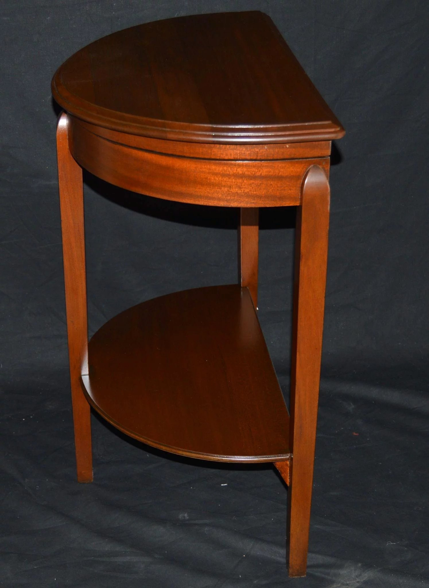 Mahogany Flatware/silver Storage Demilune Console Table : Hollin in Clairemont Demilune Console Tables (Image 18 of 30)
