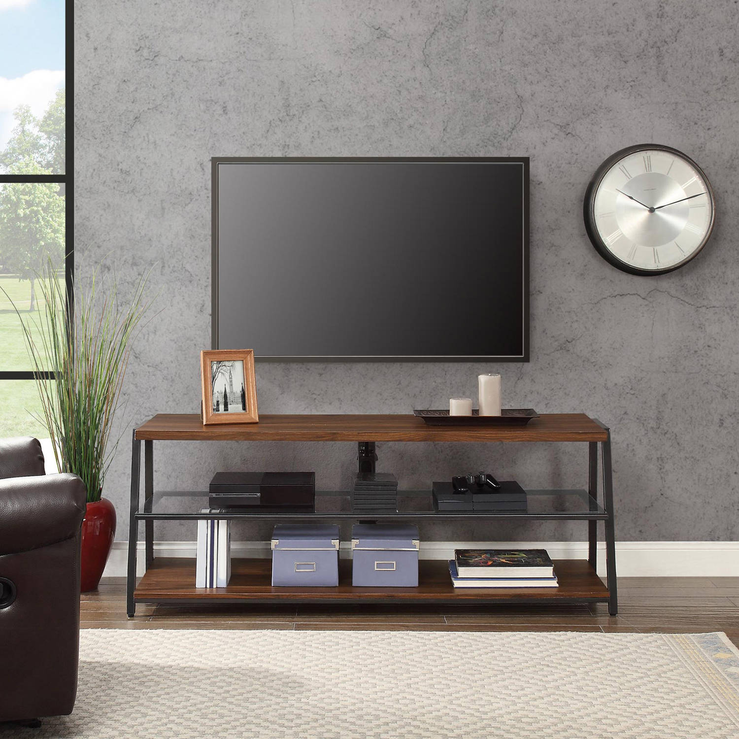"Mainstays Arris 3-In-1 Tv Stand For Televisions Up To 70"", Perfect intended for Canyon 74 Inch Tv Stands (Image 12 of 30)"