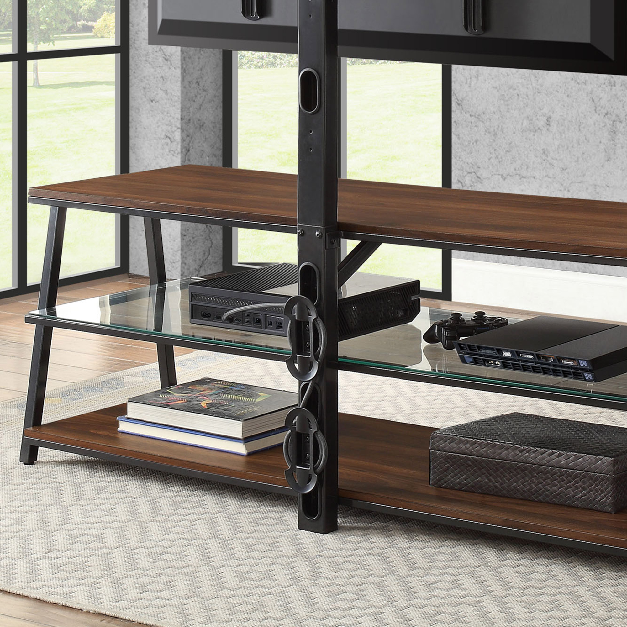 """Mainstays Arris 3 In 1 Tv Stand For Televisions Up To 70"""", Perfect With Regard To Canyon 64 Inch Tv Stands (View 15 of 30)"""