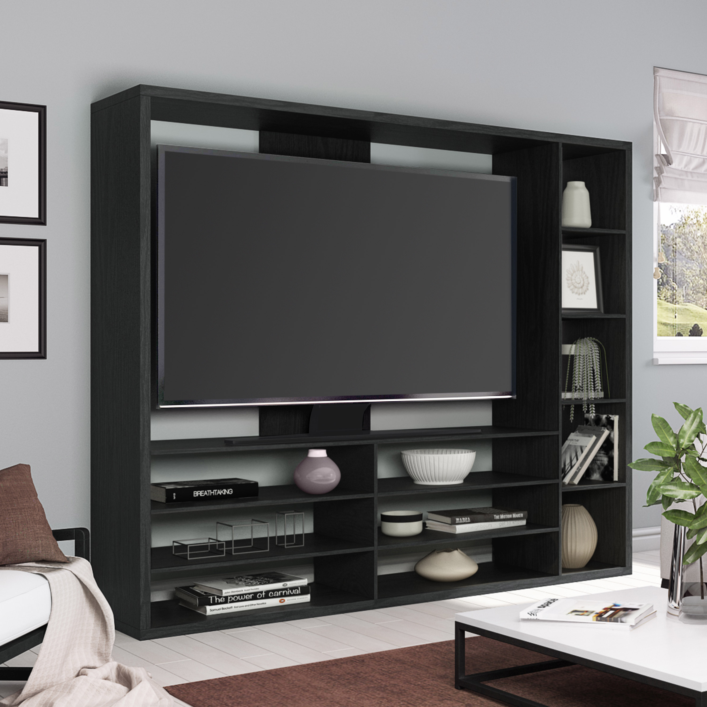 "Mainstays Entertainment Center For Tvs Up To 55"", Ideal Tv Stand For in Canyon 64 Inch Tv Stands (Image 17 of 30)"
