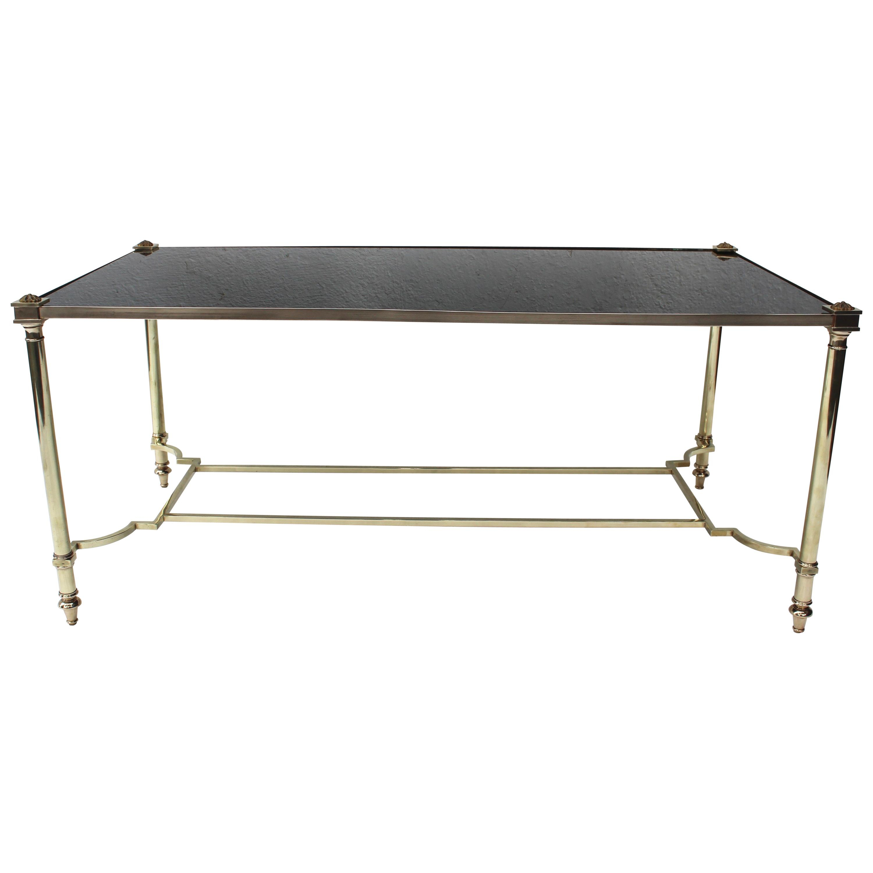 Maison Jansen Furniture - 654 For Sale At 1Stdibs in Mix Leather Imprint Metal Frame Console Tables (Image 12 of 30)