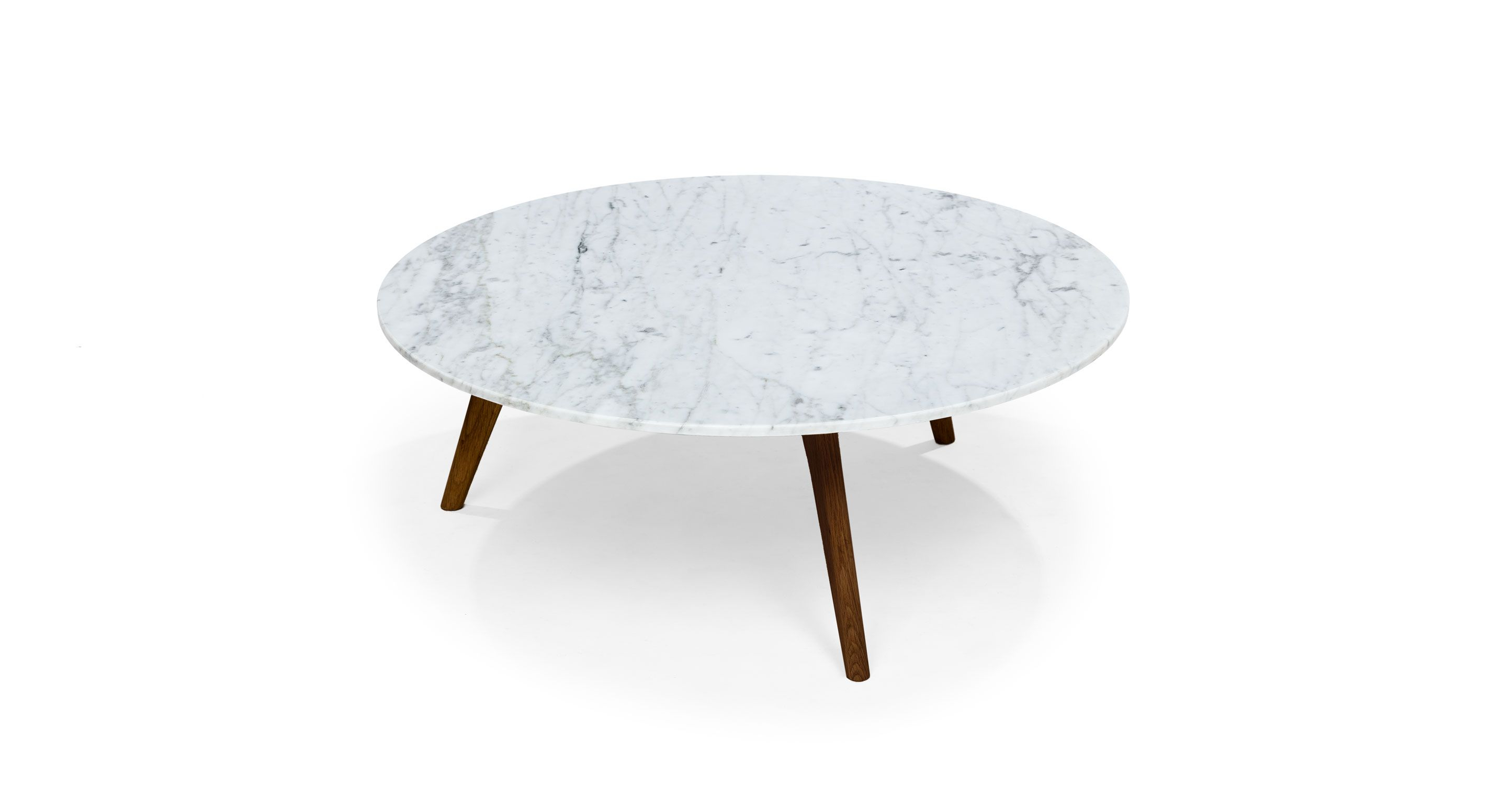 Mara Walnut Coffee Table – Coffee Tables – Article | Modern, Mid Intended For Elke Marble Console Tables With Polished Aluminum Base (View 21 of 30)