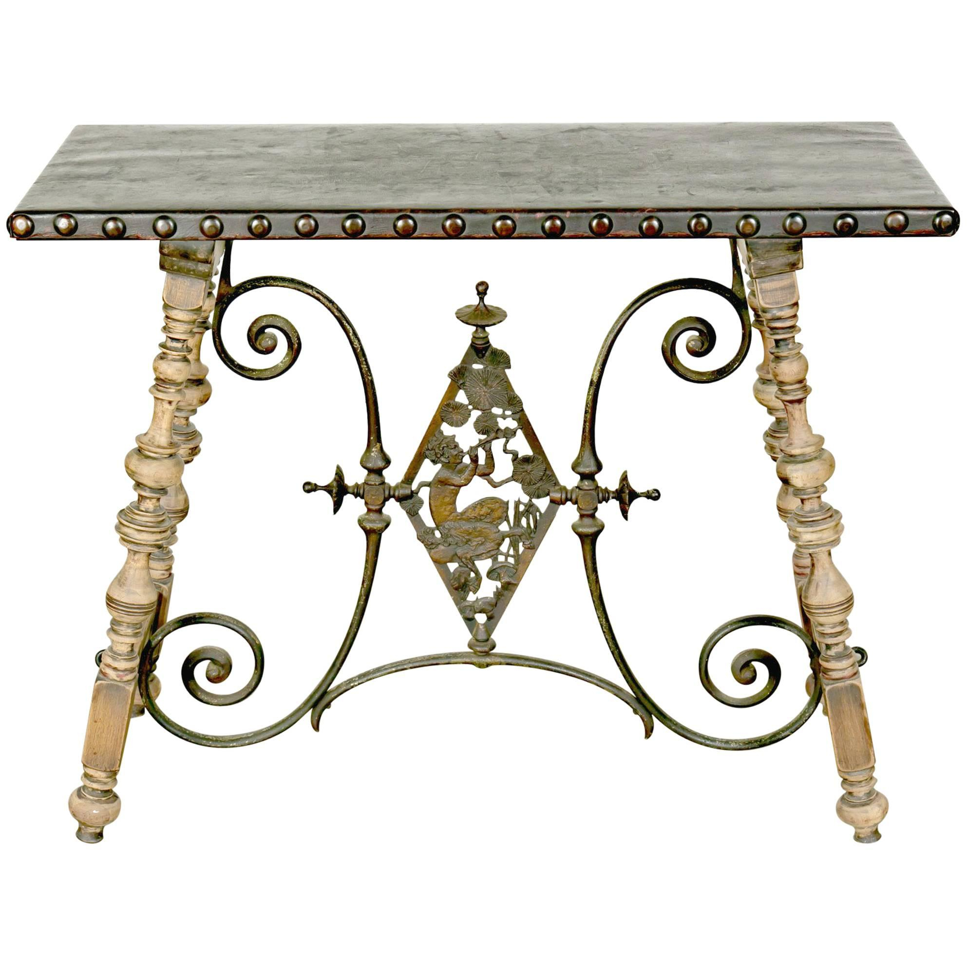 Marble And Bronzed Cast Iron Console Table With Mirroroscar Bach With Oscar 60 Inch Console Tables (View 18 of 30)