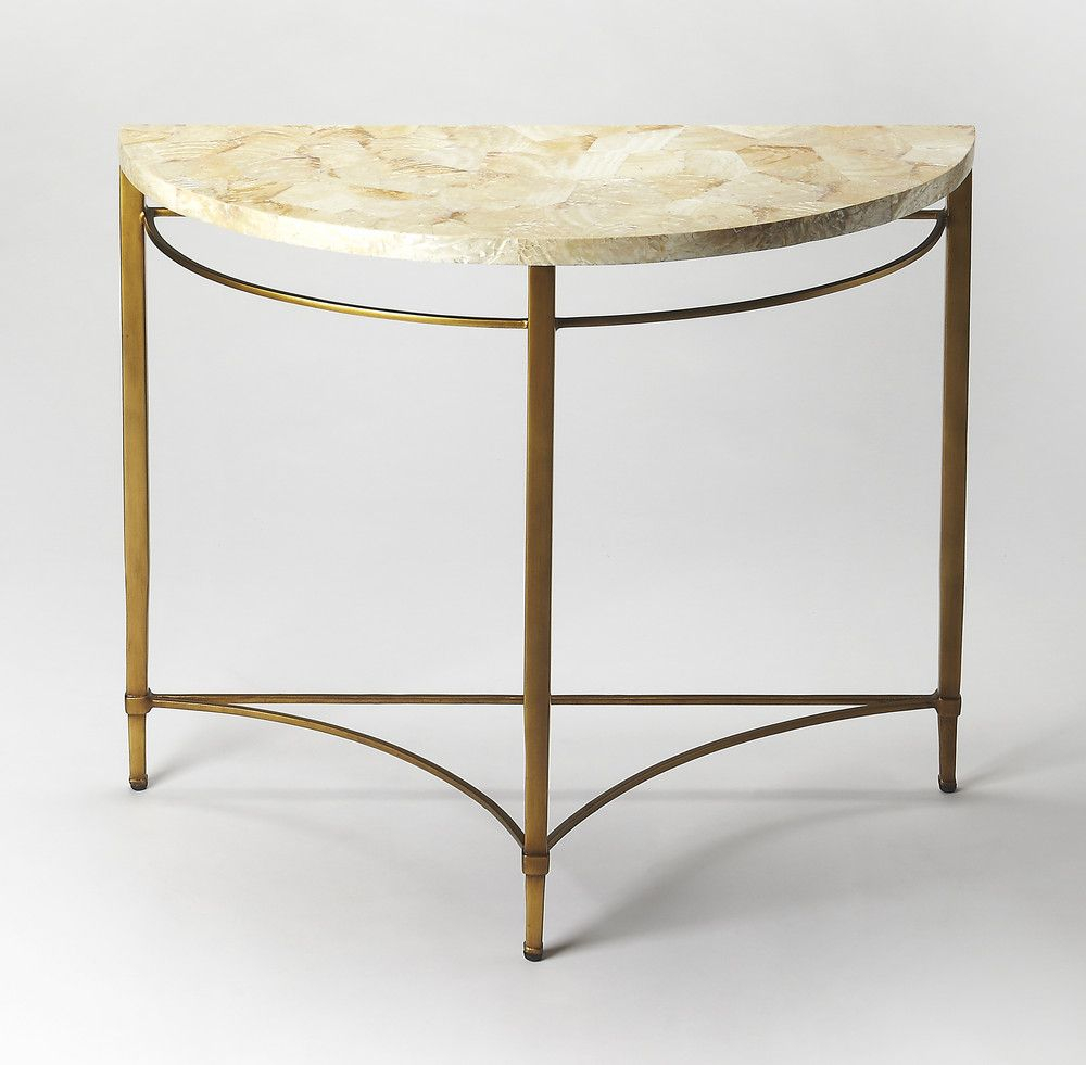 Marlena Cabebe Shell Demilune Console Table | 1651 Entry | Pinterest In Remi Console Tables (View 11 of 30)