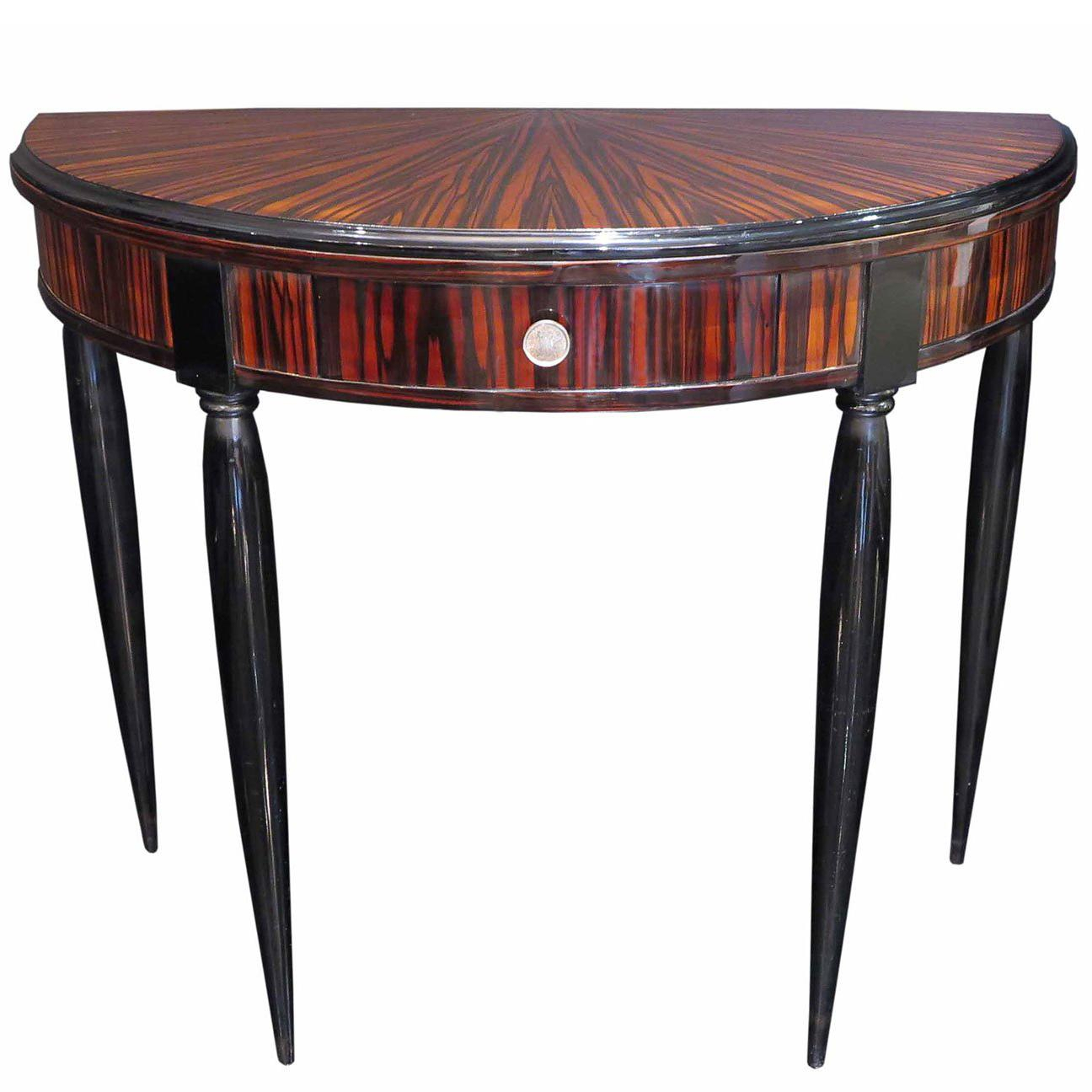 Marmont Console In Lacquered Ebony And Gold Leafbadgley Mischka Throughout Balboa Carved Console Tables (View 15 of 30)