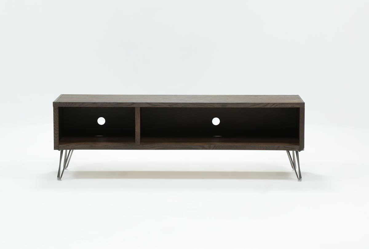 Melrose Barnhouse Brown 65 Inch Lowboy Tv Stand | Living Spaces in Wakefield 85 Inch Tv Stands (Image 10 of 30)