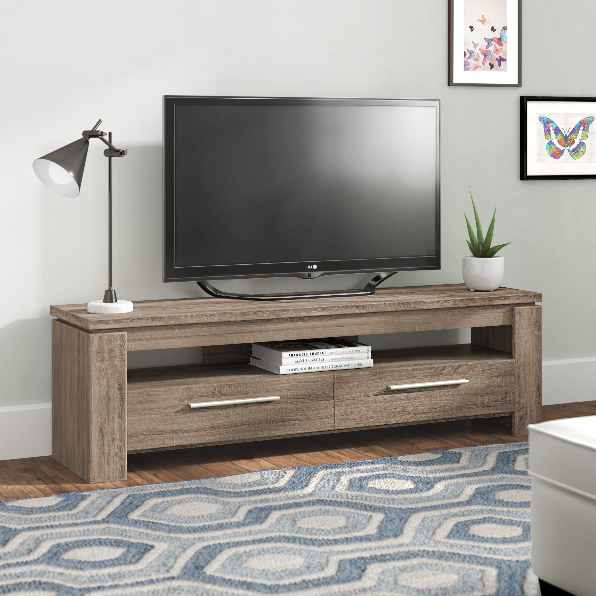 Mercury Row Rorie Tv Stand & Reviews | Wayfair Intended For Lauderdale 62 Inch Tv Stands (View 5 of 30)