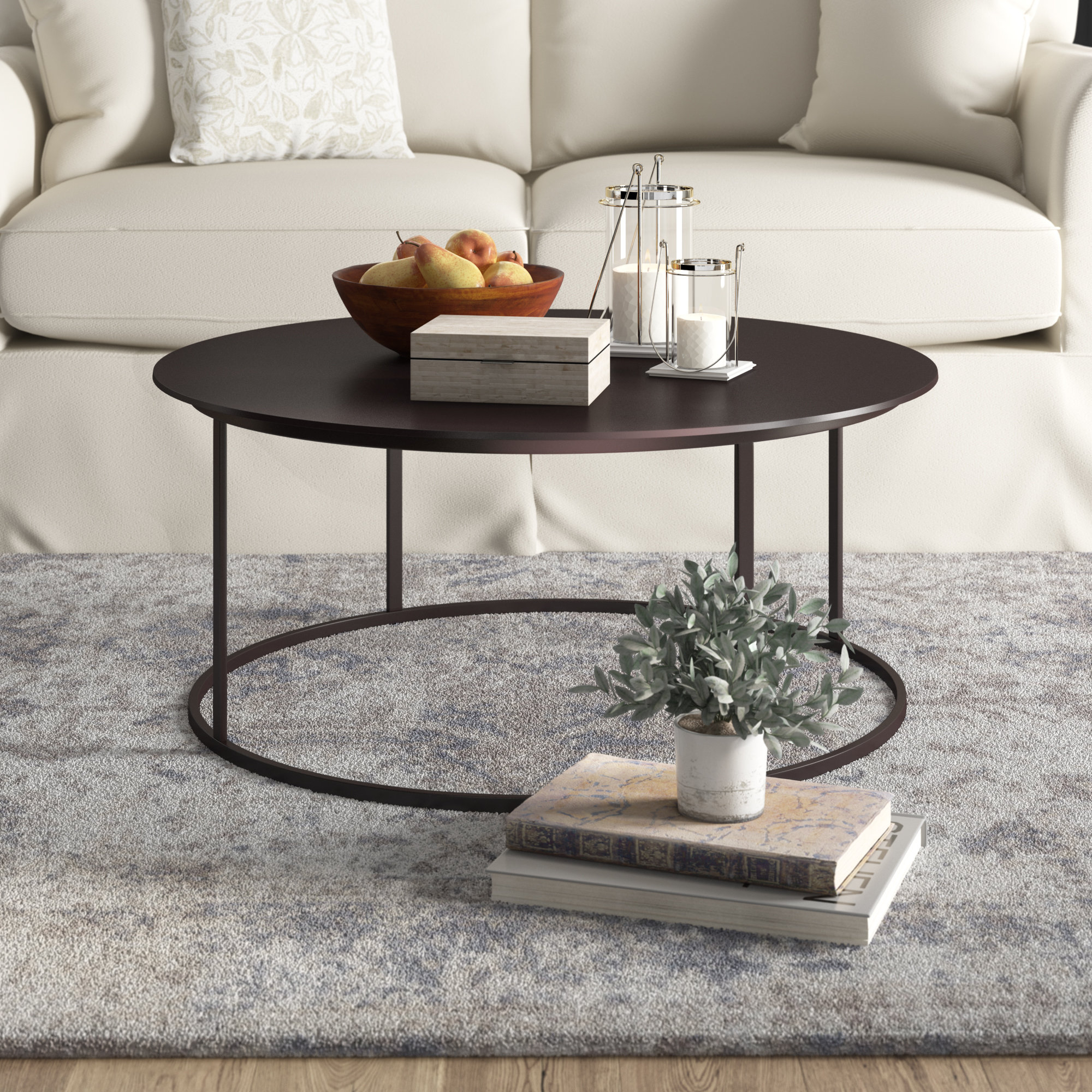 Metal Coffee Tables You'll Love | Wayfair For Mix Leather Imprint Metal Frame Console Tables (View 18 of 30)