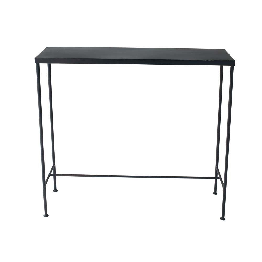 Metal Industrial Console Table In Black W 90Cm Edison | Maisons Du Monde intended for Mix Patina Metal Frame Console Tables (Image 16 of 30)