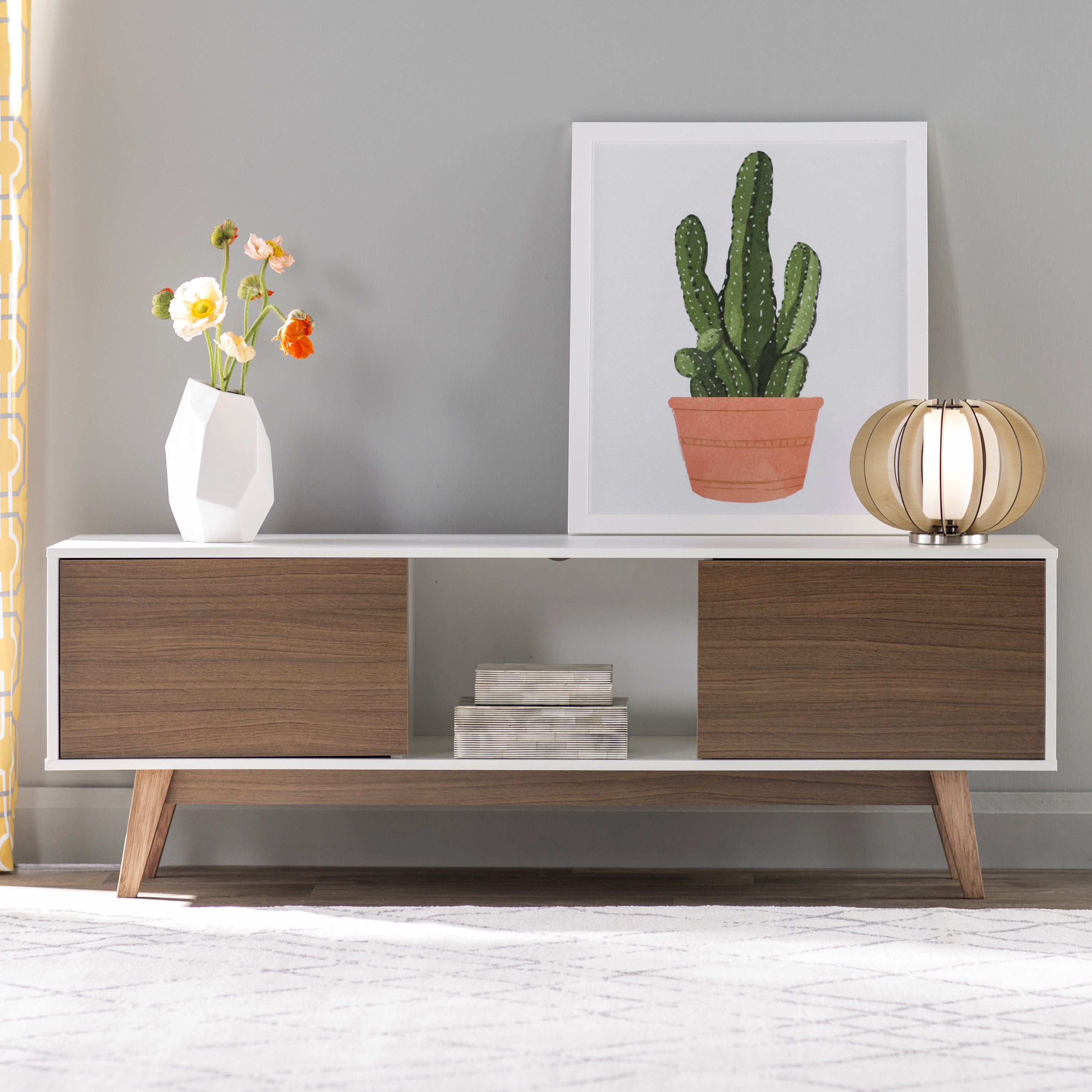 Mid-Century Modern Tv Stands You'll Love | Wayfair.ca with regard to Canyon 74 Inch Tv Stands (Image 14 of 30)