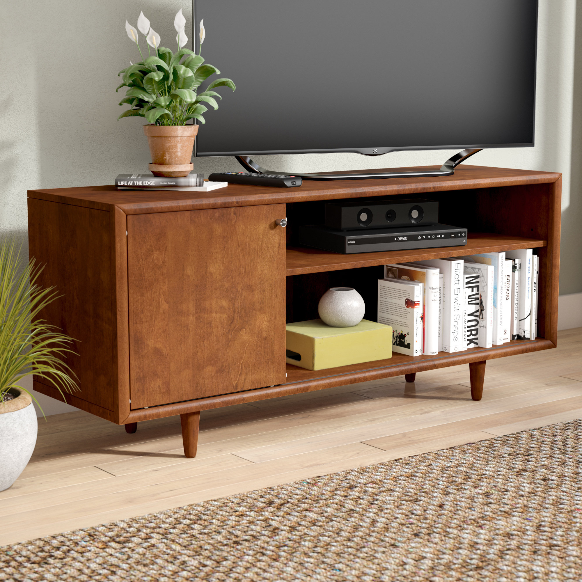 Mid Century Modern Tv Stands You'll Love   Wayfair For Laurent 50 Inch Tv Stands (View 4 of 30)