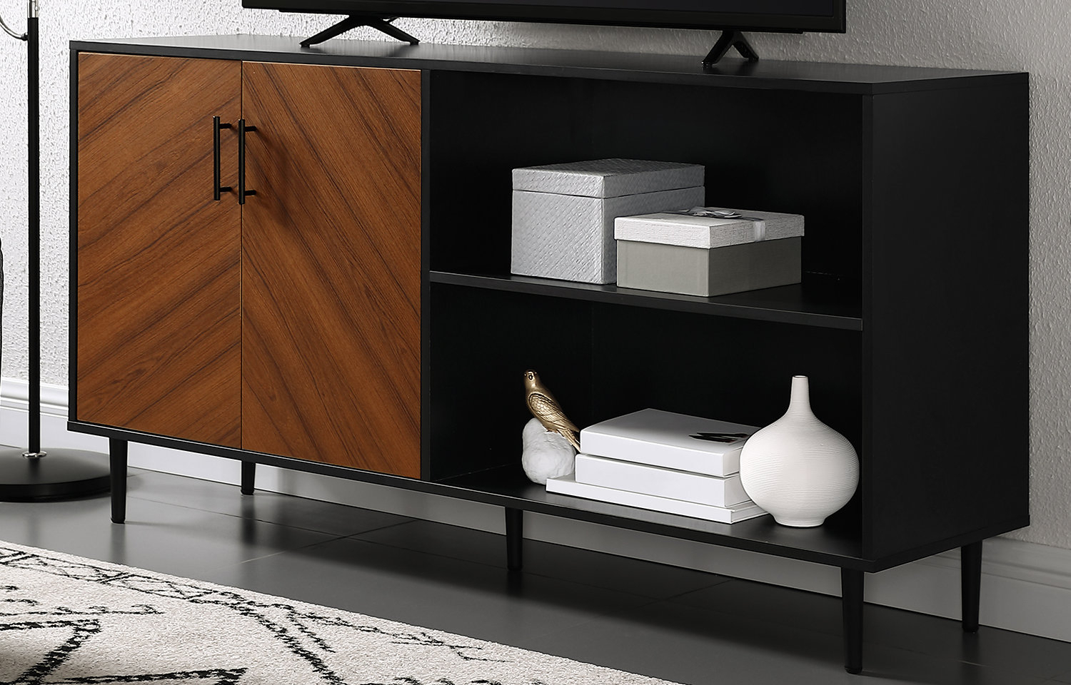 Mid-Century Modern Tv Stands You'll Love | Wayfair inside Century Blue 60 Inch Tv Stands (Image 12 of 30)