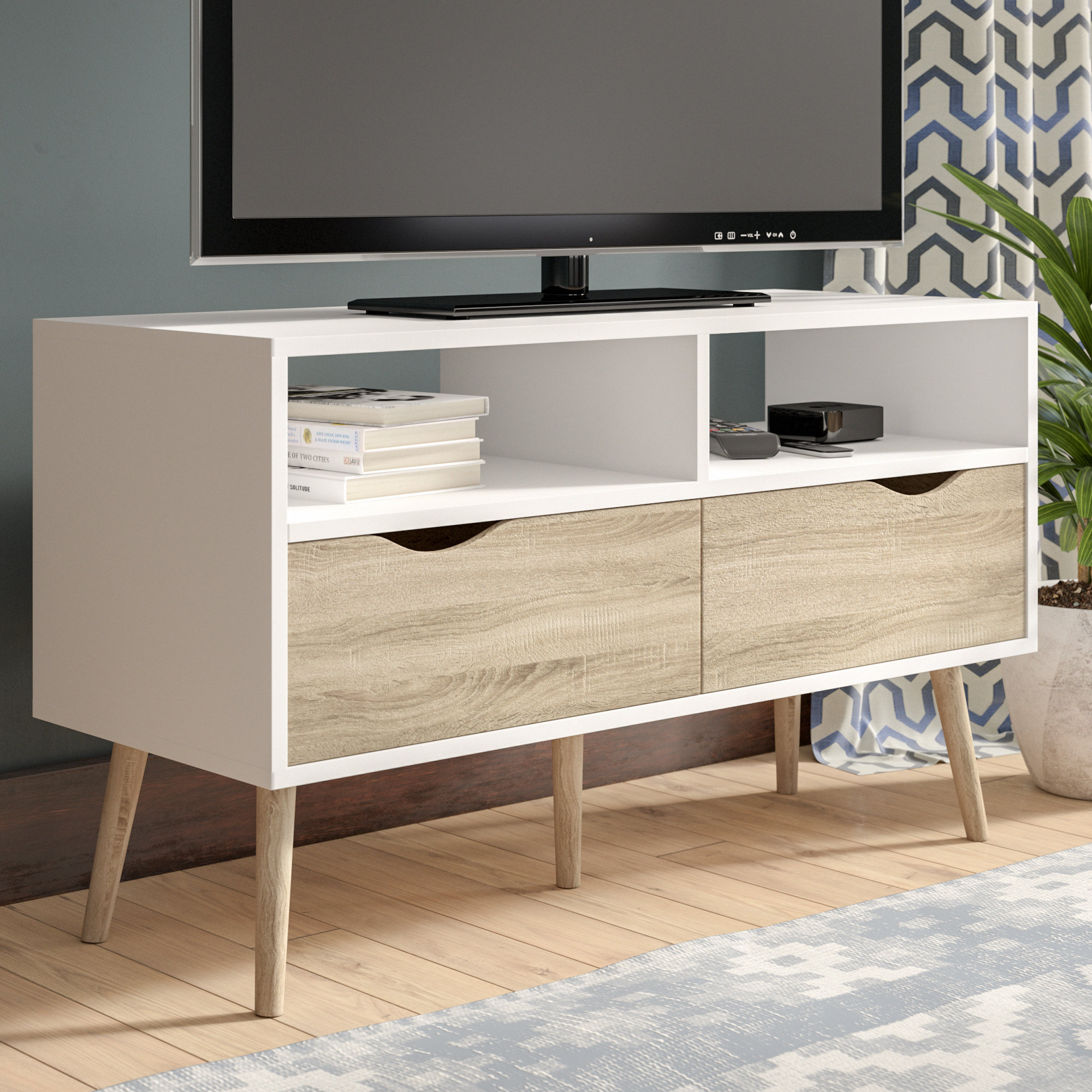 Mid-Century Modern Tv Stands You'll Love | Wayfair within Canyon 74 Inch Tv Stands (Image 13 of 30)