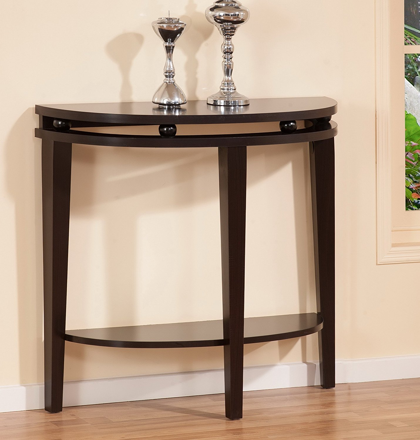 Mirrored Half Moon Console Table : Console Table – Demilune Half Pertaining To Clairemont Demilune Console Tables (View 22 of 30)