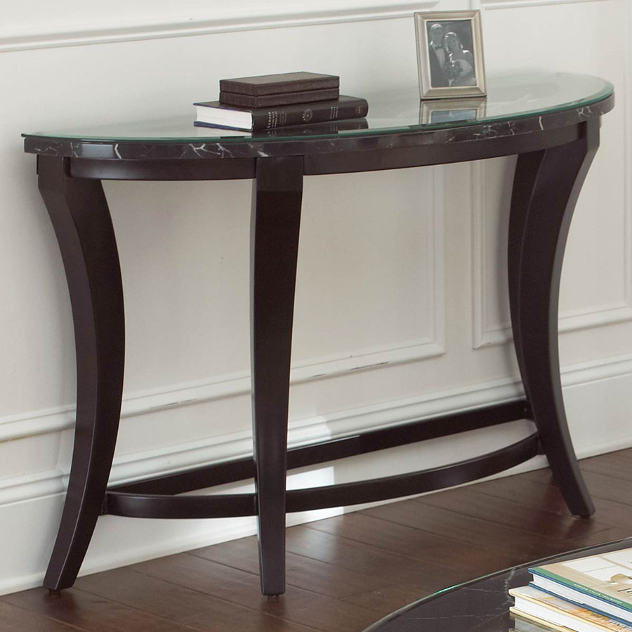 Mirrored Half Moon Console Table : Console Table - Demilune Half with Clairemont Demilune Console Tables (Image 23 of 30)