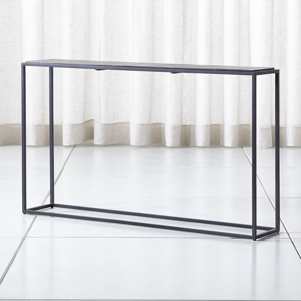 Mix Leather Imprint Metal Frame Console Table | Products | Console Within Mix Patina Metal Frame Console Tables (View 2 of 30)